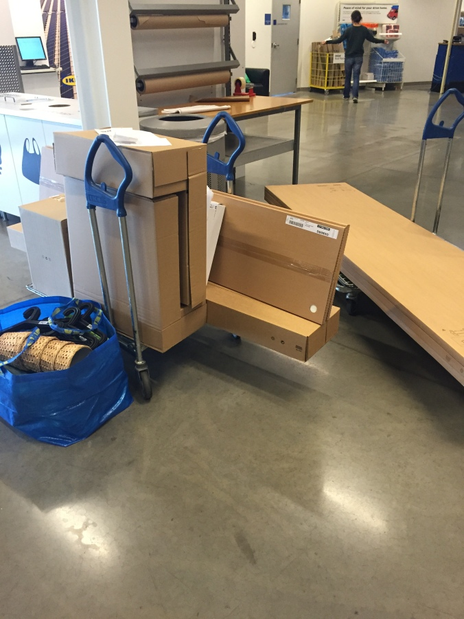 Our IKEA haul. Thank goodness for Brian's work truck!